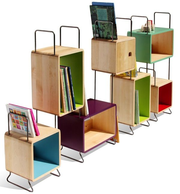 Metal Bookcase Modern Contemporary Modular Furniture Home