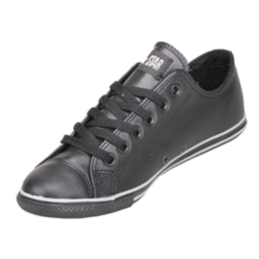 ca364d80ab37  99.99 Converse Chuck Taylor 125584C Leather Black Black Slim Low ...