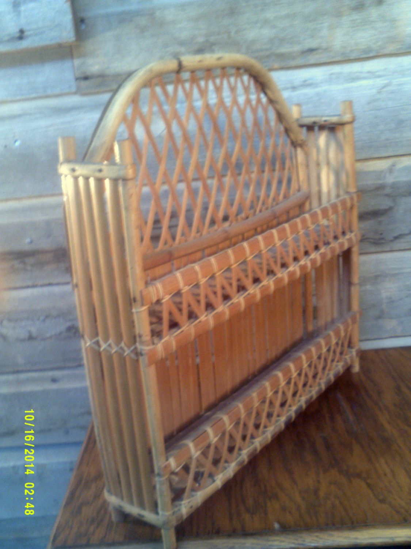 Vintage Bamboo Shelf, Small Bamboo Shelf, Bathroom Shelves ...