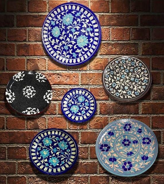 Blue Pottery Colorful Decor Home Decor Home Decor Accessories