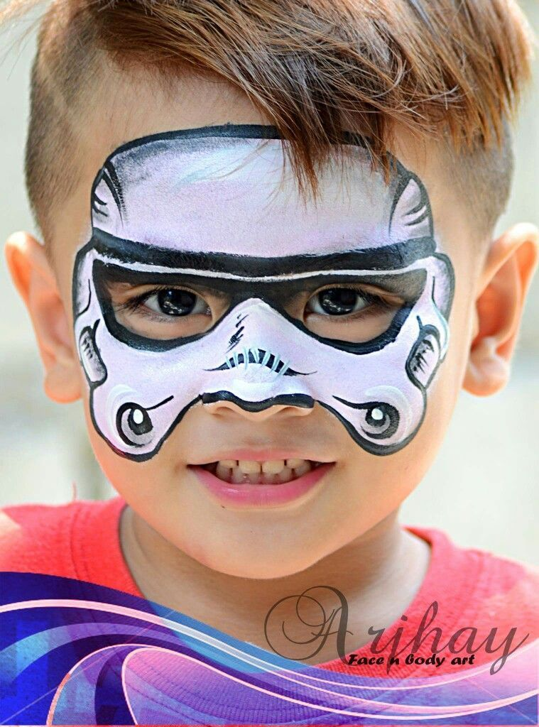 Arjhay Storm Trooper Face Painting Design Kinderschminken Kinderschminken Jungs Schminkbilder