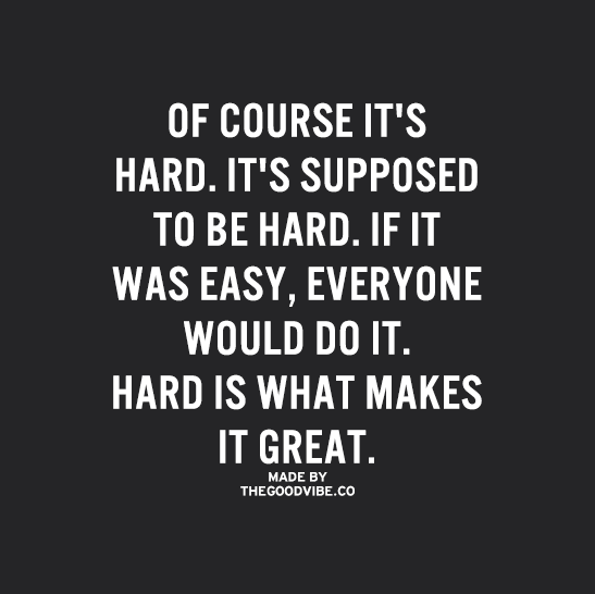 If It Was Easy Everyone Would Be Doing It Hard Work Is What