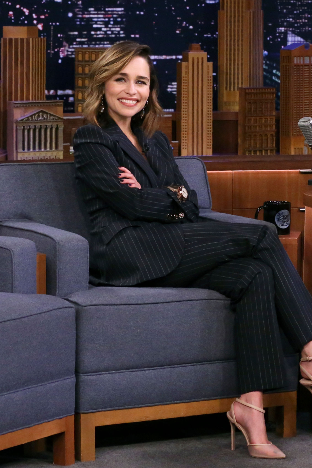 2019 - The Tonight Show Starring Jimmy Fallon (October 30) - 20191030 TheTonightShowJimmyFallon 0002 - Adoring Emilia Clarke - The Photo Gallery