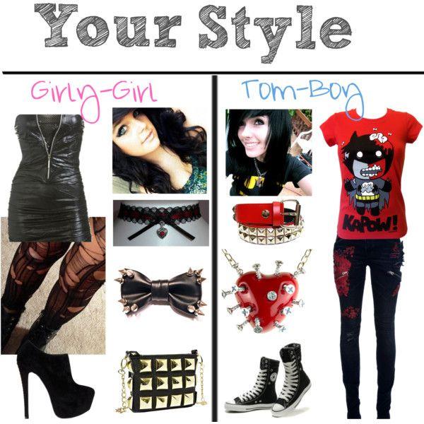Girly Girl Tomboy Styles Polyvore Tomboy Fashion Emo Girl Fashion Girly Girl