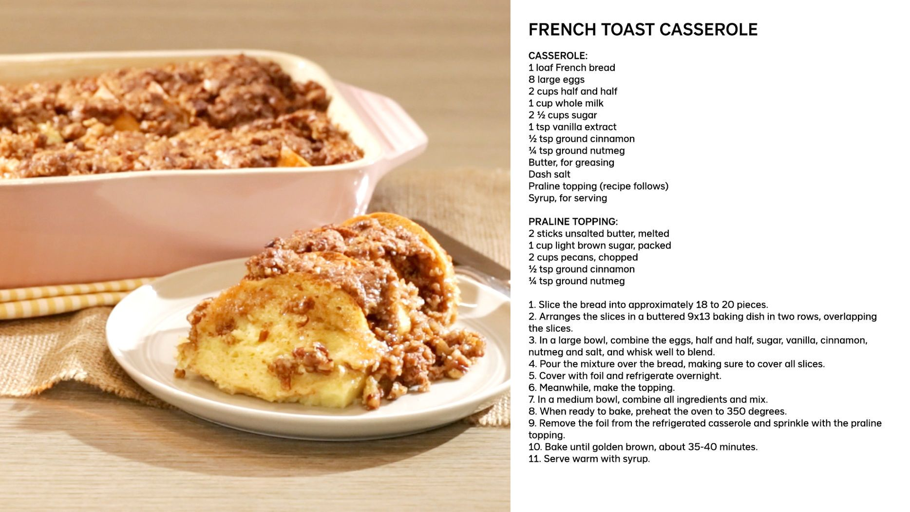 Photo of The only Todd-approved casserole is this decadent French Toast Casserole, which …
