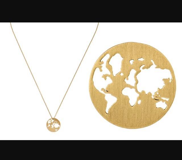 Fin Beautiful World i guld fra ByBiehl | Jewelry | Smykker, Guld og HA-57
