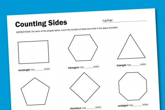 SuperMom Moments - Shapes And Sides Worksheet