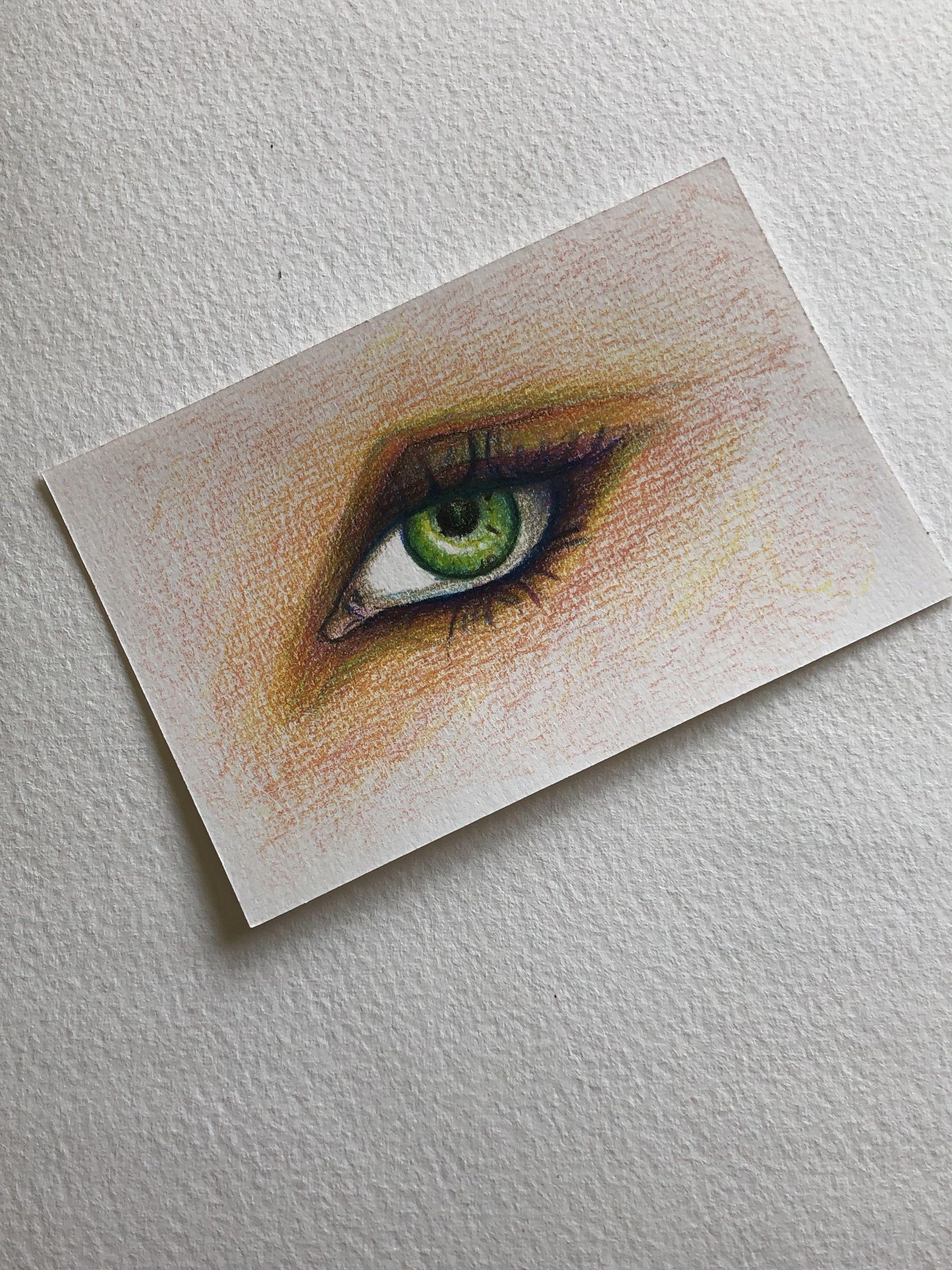 Wonderlijk tekenen #kleurpotlood #oog | Kleurpotloden UL-15