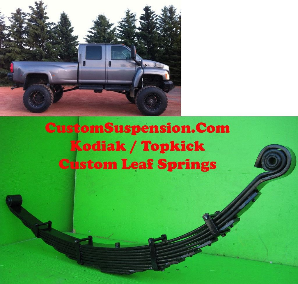 Kodiak Topkick C4500 Custom Front Lift Springs 10 Pair Jacked