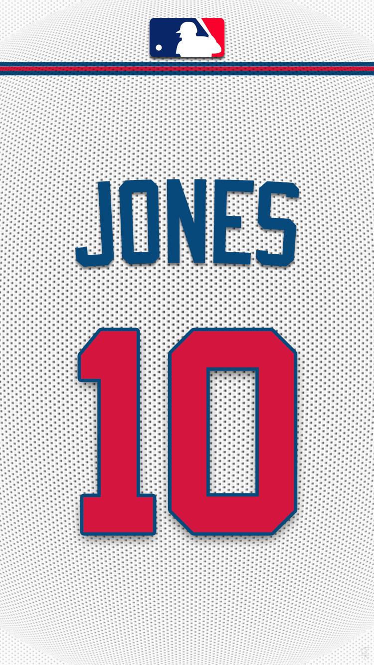 Atlanta Braves Jones Png 626602 750 1 334 Pixels With Images Atlanta Braves Atlanta Braves Wallpaper Atlanta Braves Logo
