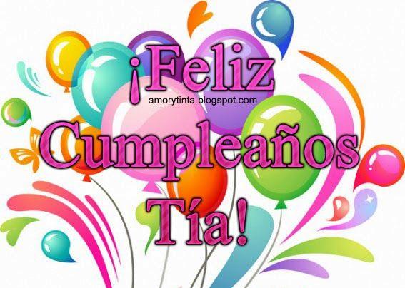 Feliz Aniversario Tia Espanol
