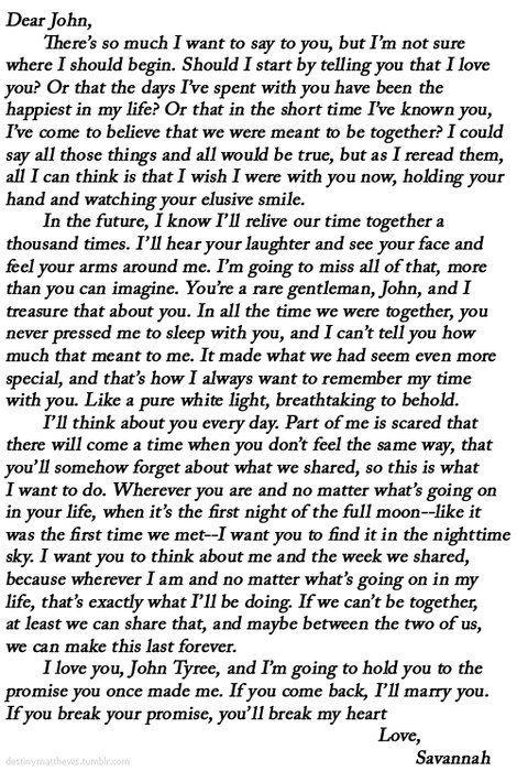 dear john melts my heart away dear John Pinterest