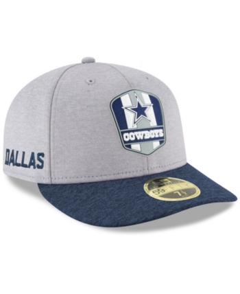 571aad95151208 New Era Dallas Cowboys On Field Low Profile Sideline Road 59FIFTY Fitted Cap  - Gray 6 7/8