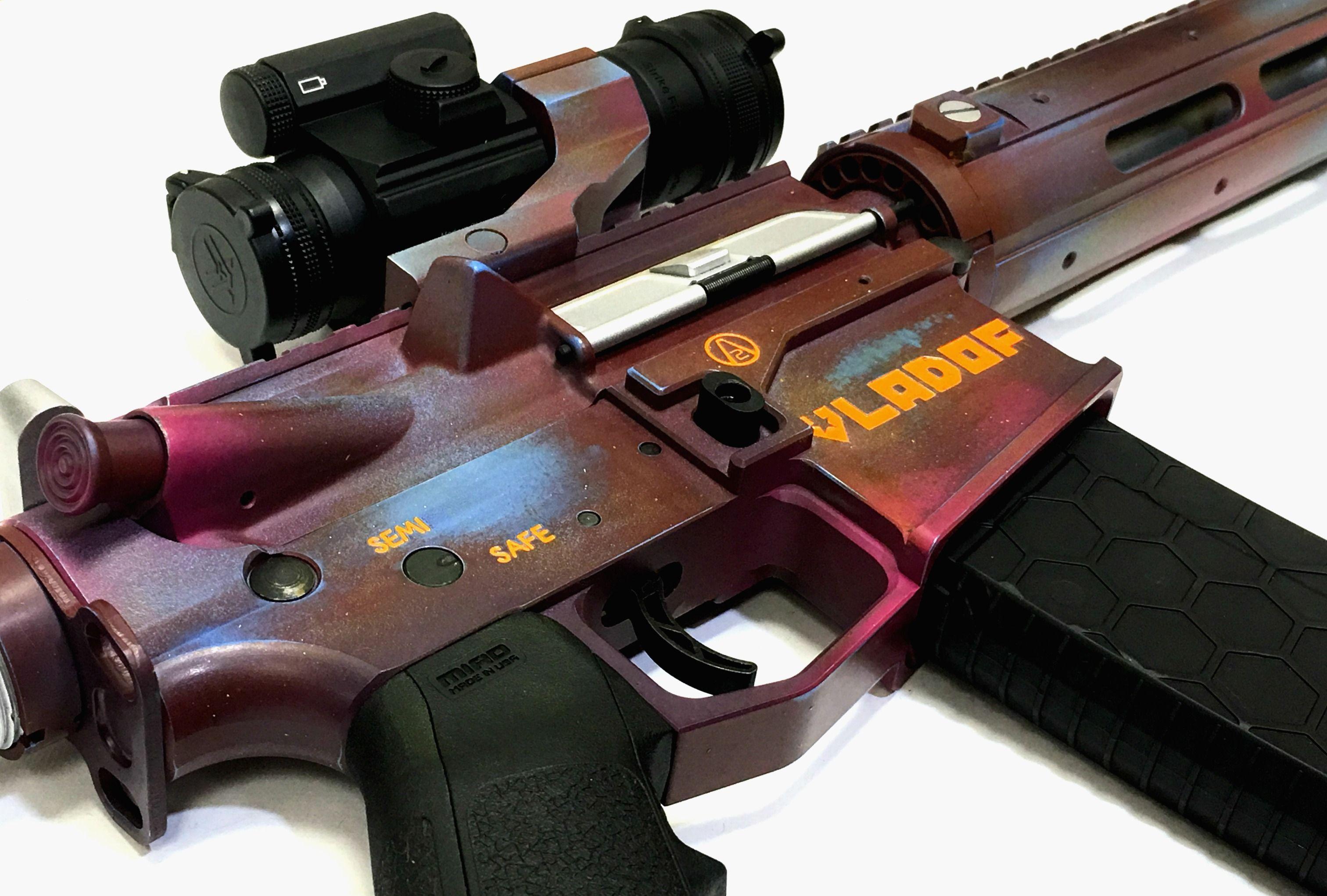 Borderlands 2 Legendary AR15 Laser Engraved and Cerakoted By
