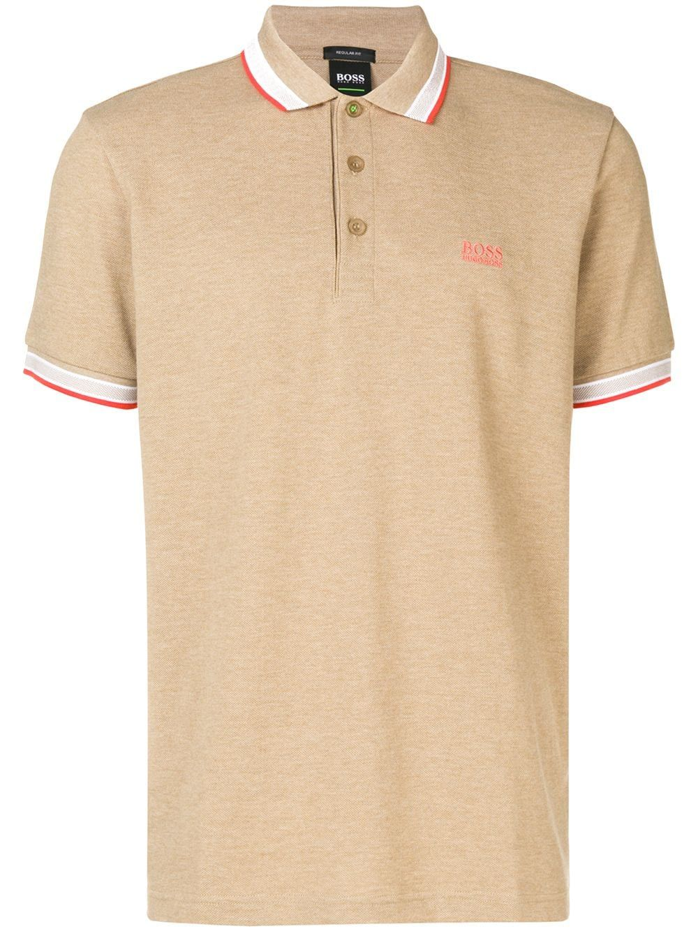 7296508ac BOSS HUGO BOSS BOSS HUGO BOSS CONTRAST TRIM POLO SHIRT - BROWN.  #bosshugoboss #cloth