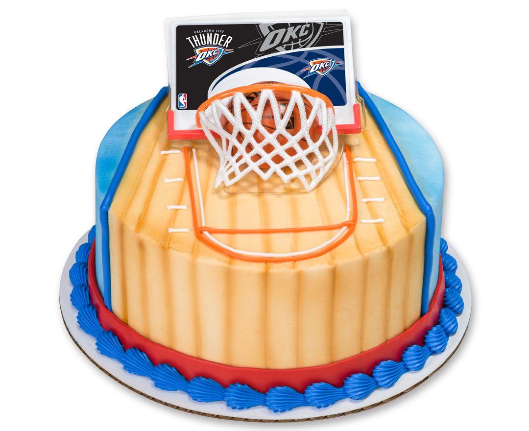 NBA Slam Dunk DecoSet Cake Topper Oklahoma City Thunder Jadon - Wedding Cake Toppers Okc