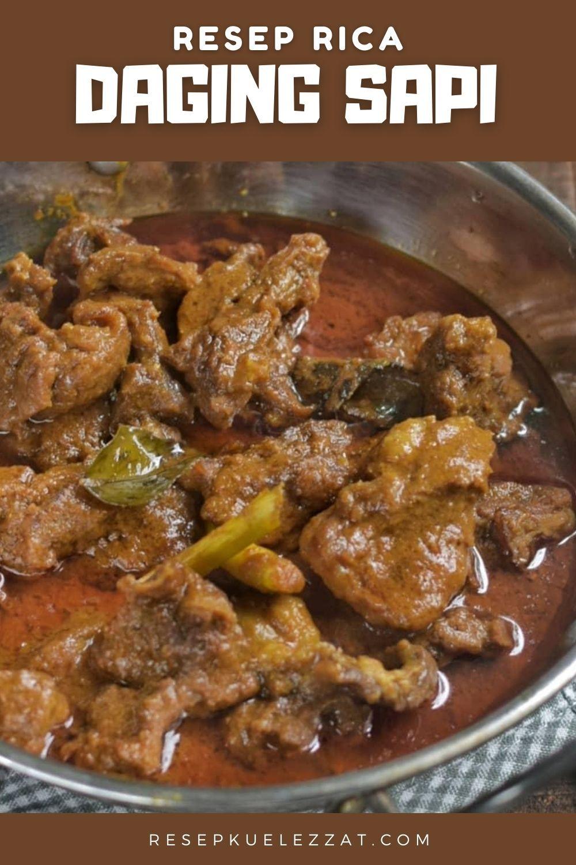 Resep Rica Daging Sapi Lezat Di 2020 Resep Resep Makan Siang Sehat Resep Daging Sapi