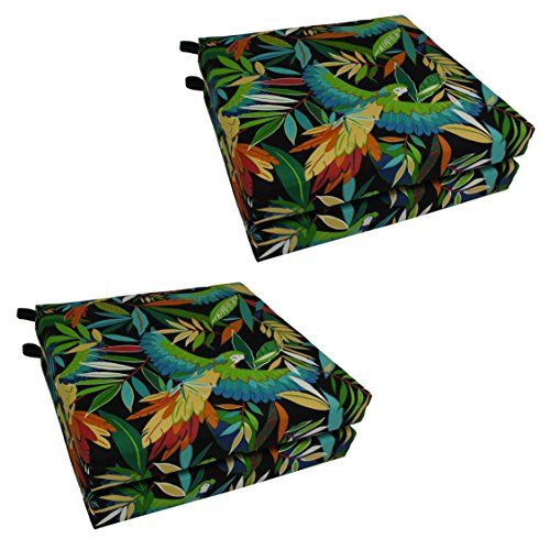 Blazing Needles Patterned Outdoor Spun Polyester Chair Cushions