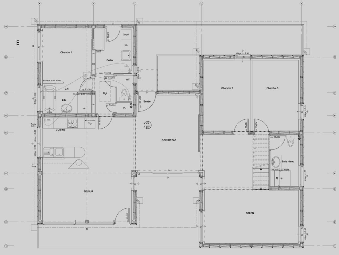 Plans maison contemporaine d architecte maison moderne for Maison d architecte plan