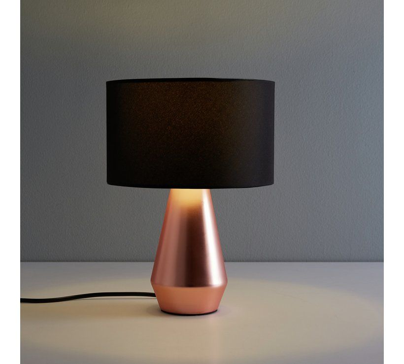 Buy Habitat Maya Pair Of Touch Table Lamps Copper Black Table Lamps Argos Touch Table Lamps Lamp Table Lamp