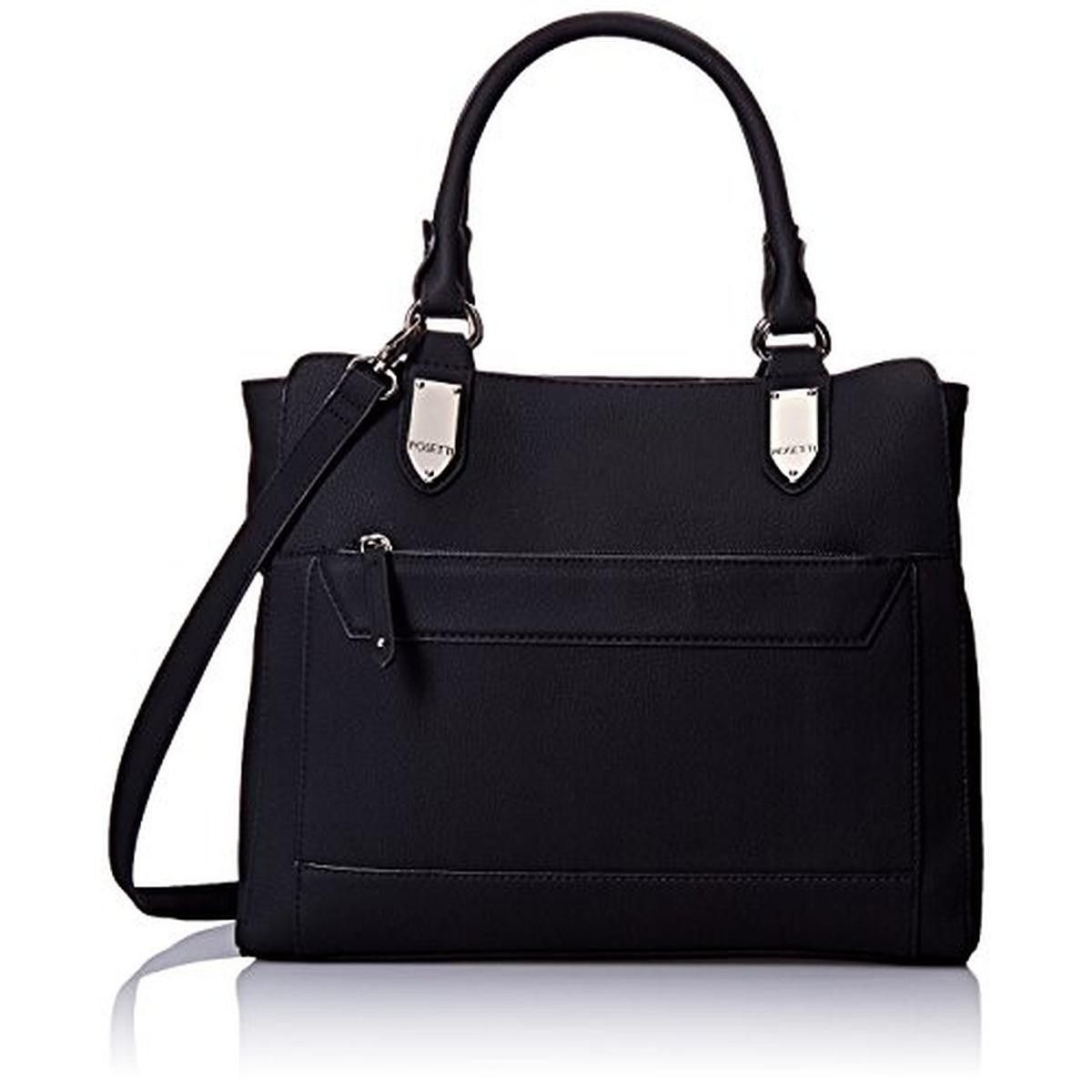 Rosetti Womens Cameron Faux Leather Convertible Tote Handbag