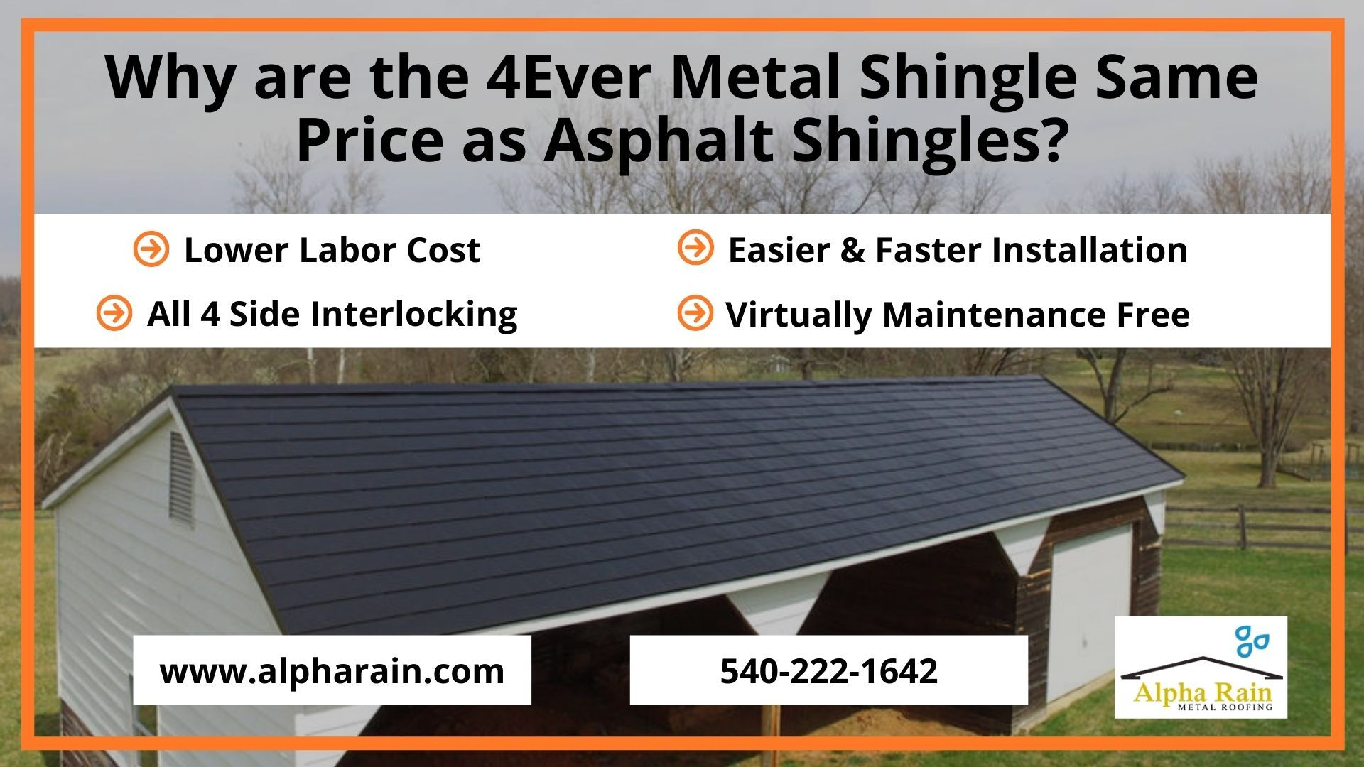 4ever Metal Shingle Installation With Low Labor Cost In 2020 Metal Shingles Shingling Metal Shingle Roof