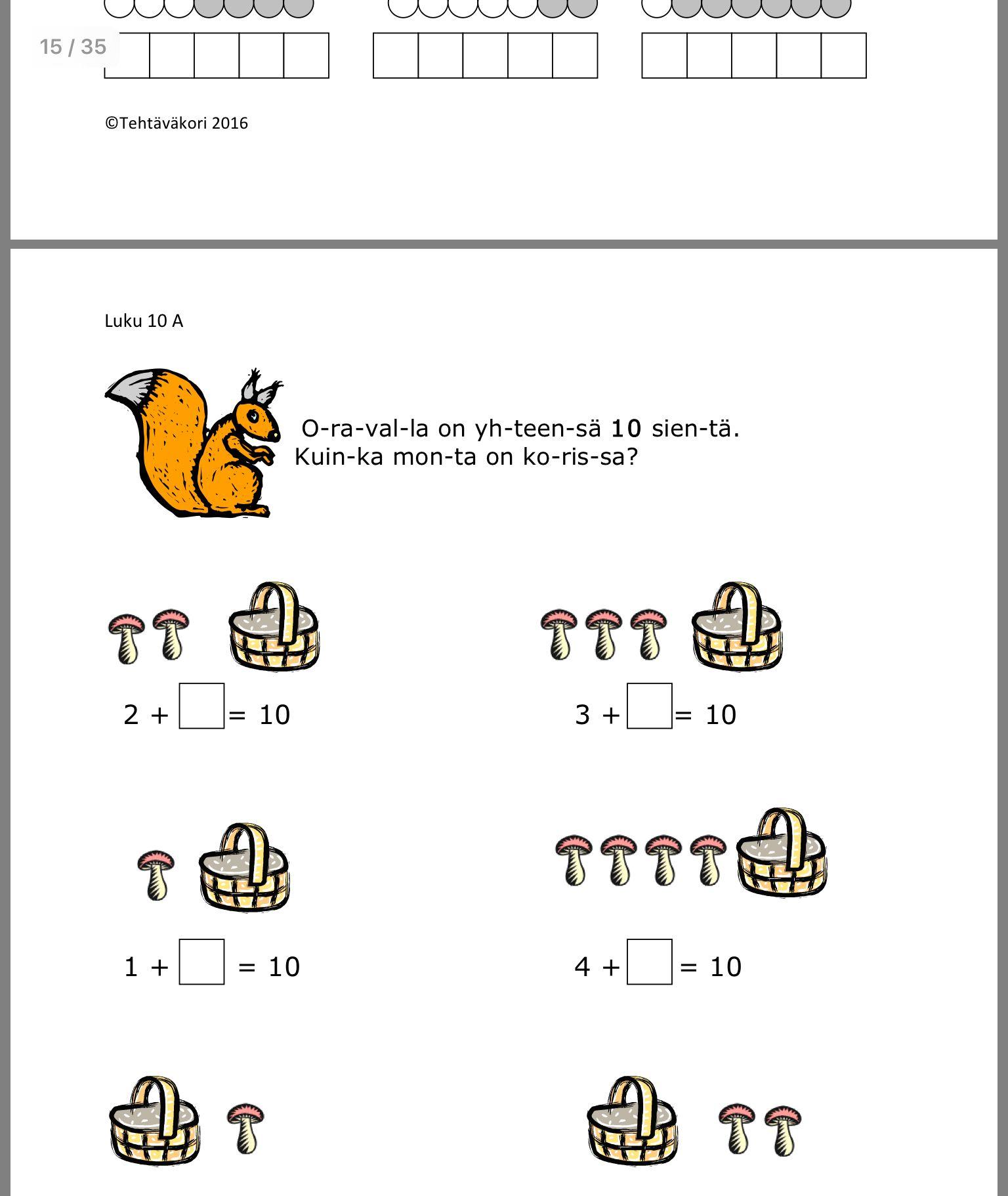 Pin By Heidi Kiianlinna On Alkuopetus Matematiikka