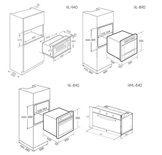 Resultado de imagen para medidas estandar torre hornos for Medidas estandar de muebles bajos de cocina