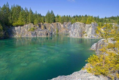 Abondoned Quarry, Texada Island, British Columbia