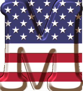 Oh My Alfabetos Alfabeto Con La Bandera De Usa Bandera De Usa Moldes De Letras Abecedario Abecedario Lettering