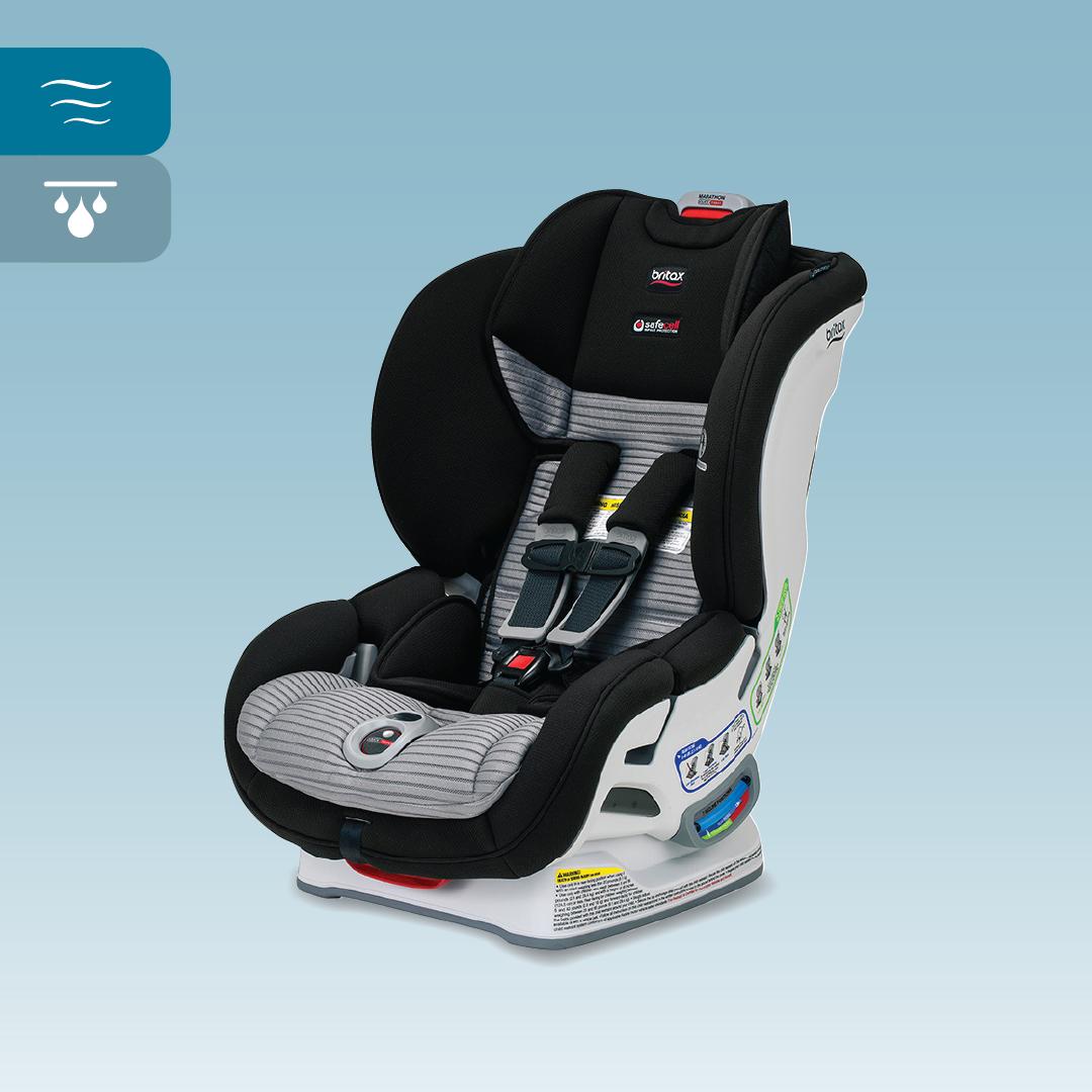 Britax Marathon Clicktight Dual Comfort Convertible Car Seat Black Gray Car Seats Convertible Car Seat Britax Marathon