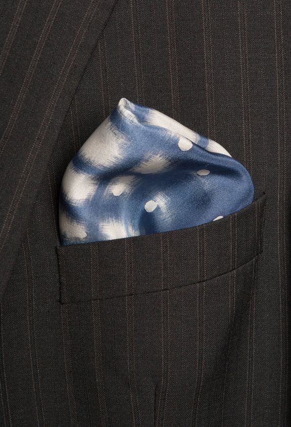 Hand Painted Silk Mens Wedding  Nautical Silk by LigaKandele