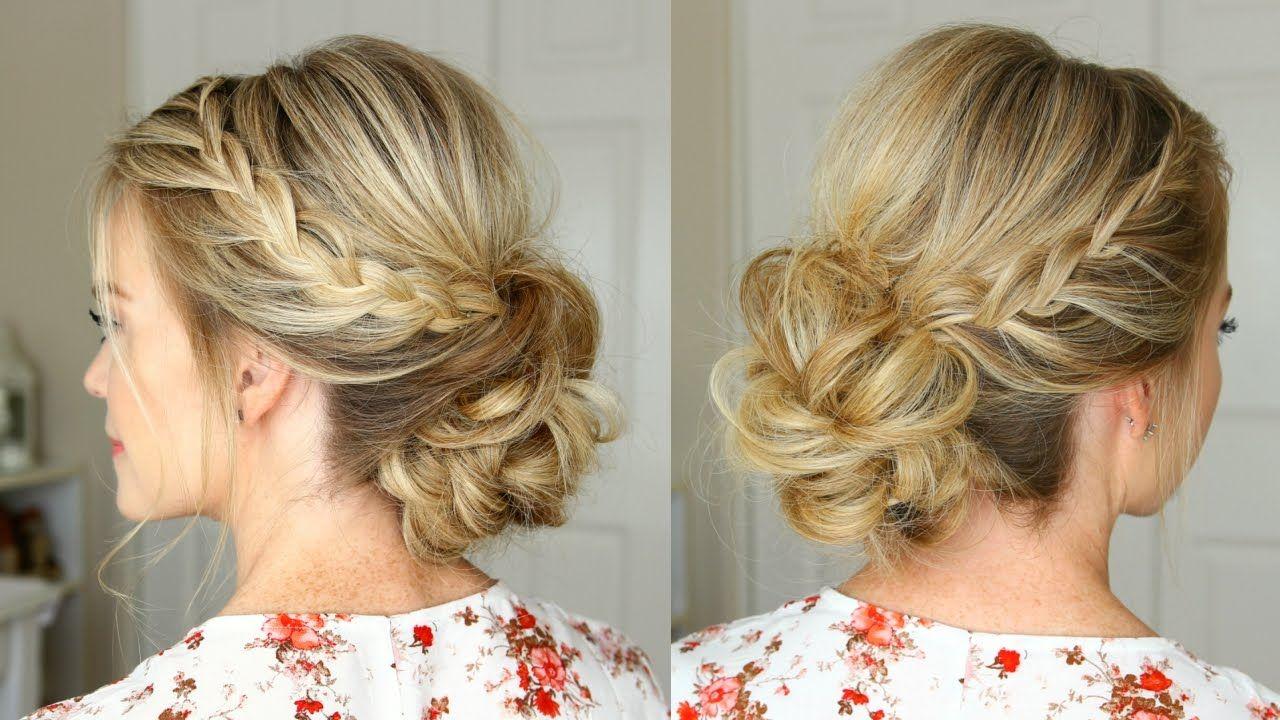 Lace braid homecoming updo missy sue hair u makeup pinterest