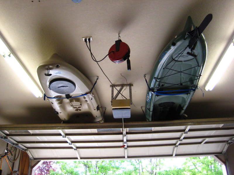 Kayak Garage Storage How To Homeowner Stuff Pinterest