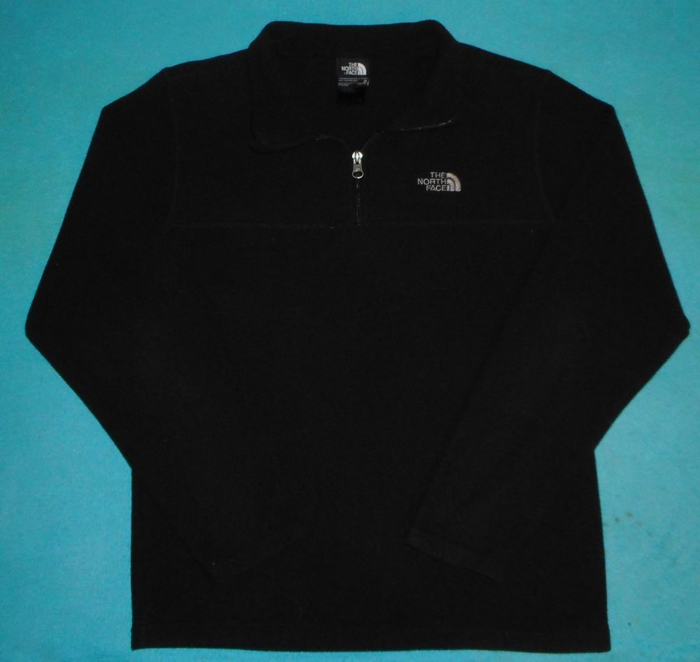4b391f691 Boys Size XL The North Face Black Solid Pullover 1/4 Zip Sweatshirt ...