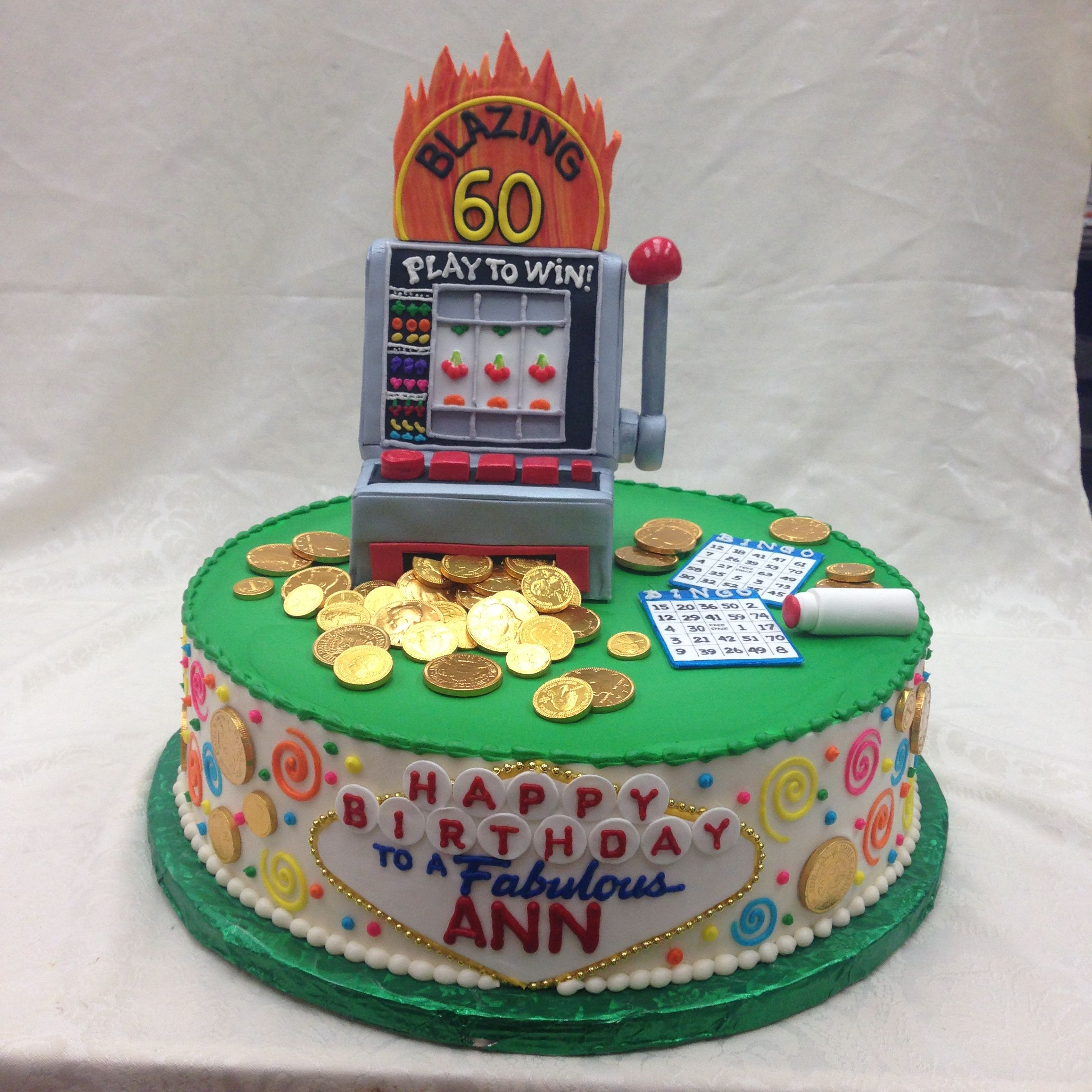 Really Cool Slots Cake for a Birthday! See more http://www ...