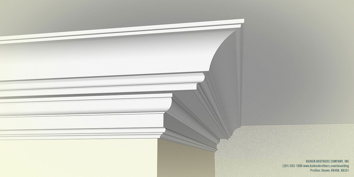 Large Cove Combination Kuiken Brothers Cornice Moulding