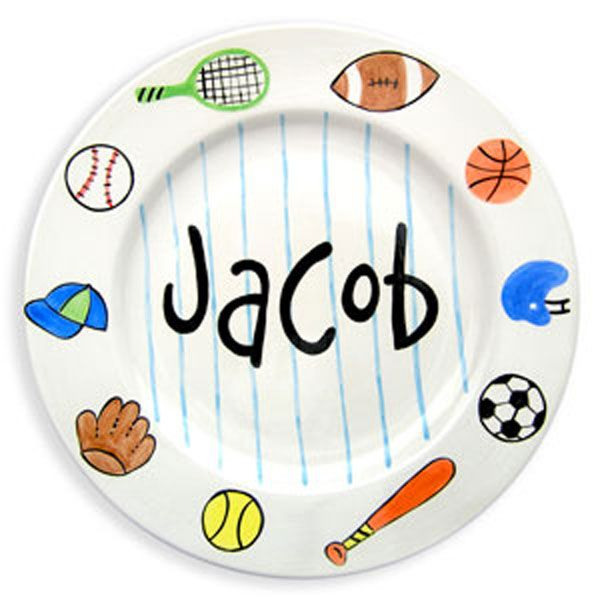 Personalized sports design birth plate 8 birth children s and babies personalized sports design birth plate boy cornerstorkbabygifts babygifts sportbabygifts negle Images