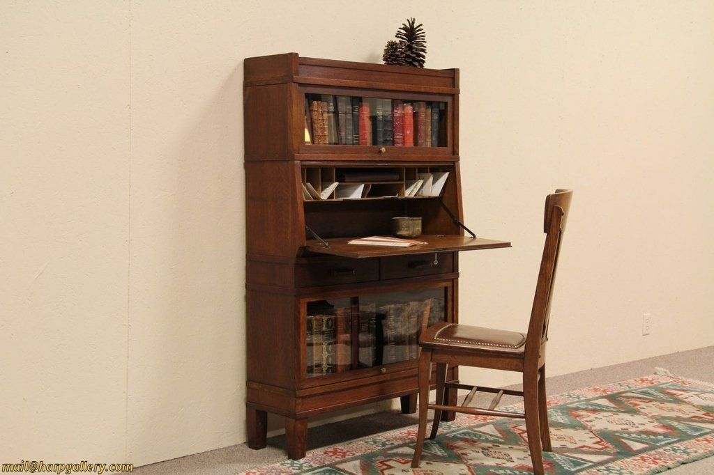 Antique Stacking Bookcase Writing Desk Antique Furniture Furniture Bookcase