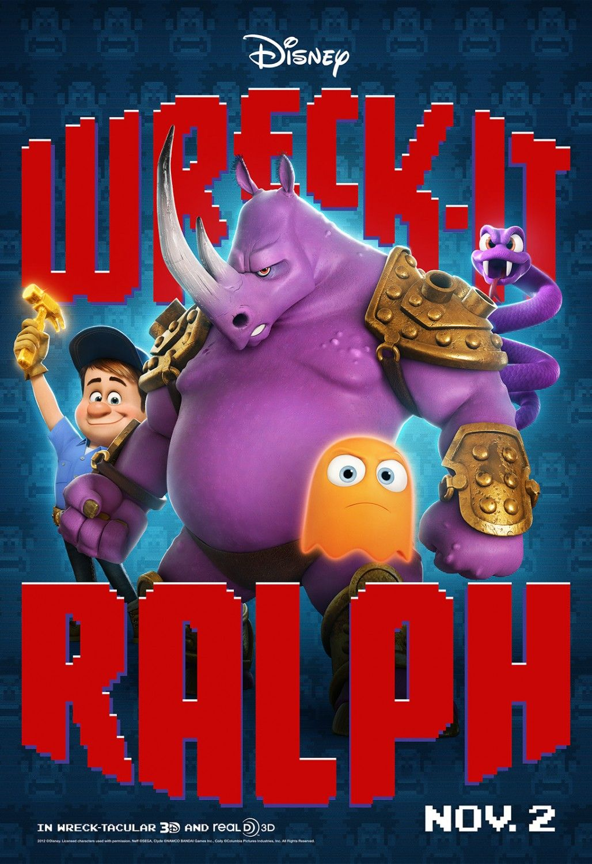Wreck It Ralph 11 2 12 Jackmcbrayer As Fix It Felix Jr Neff The Purple Rhino From Altered Beast Wreck It Ralph Movie Wreck It Ralph Disney Animated Movies