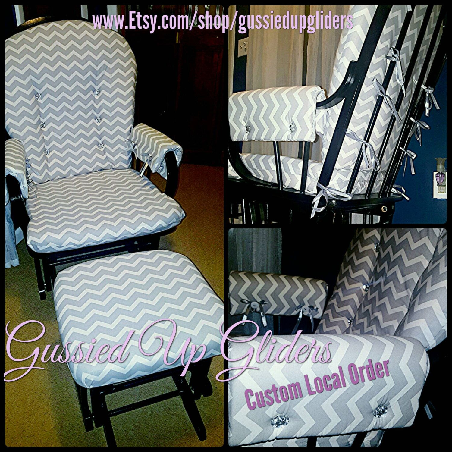 custom rocking chair cushions. Custom Glider Cushion Set And Arm Rests Design, Chair Cushions, Replacement Rocker Pads, Rocking Cushions