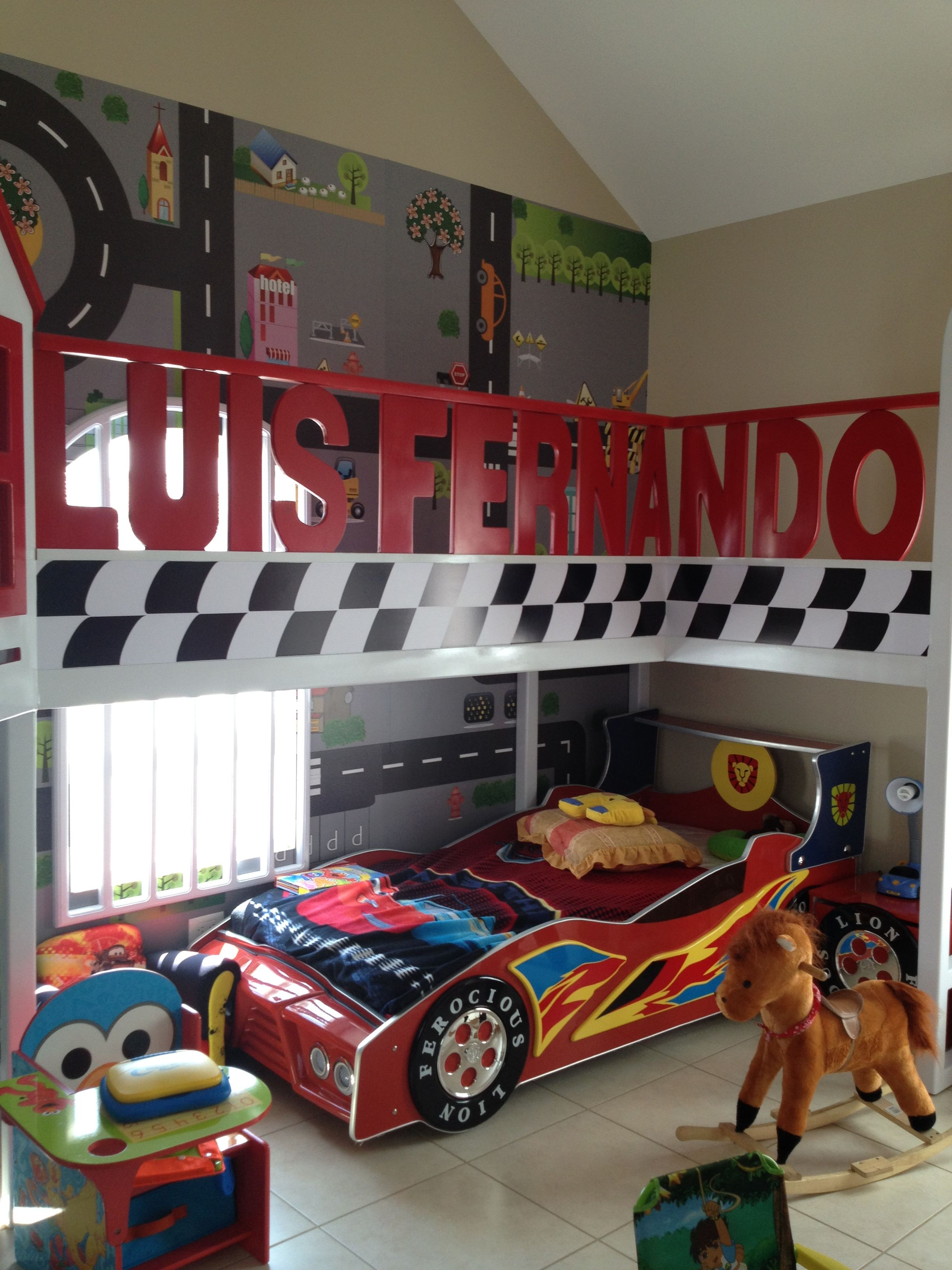 Mural carros cuarto ni o created by wall art pinterest - Cuartos para ninos ...