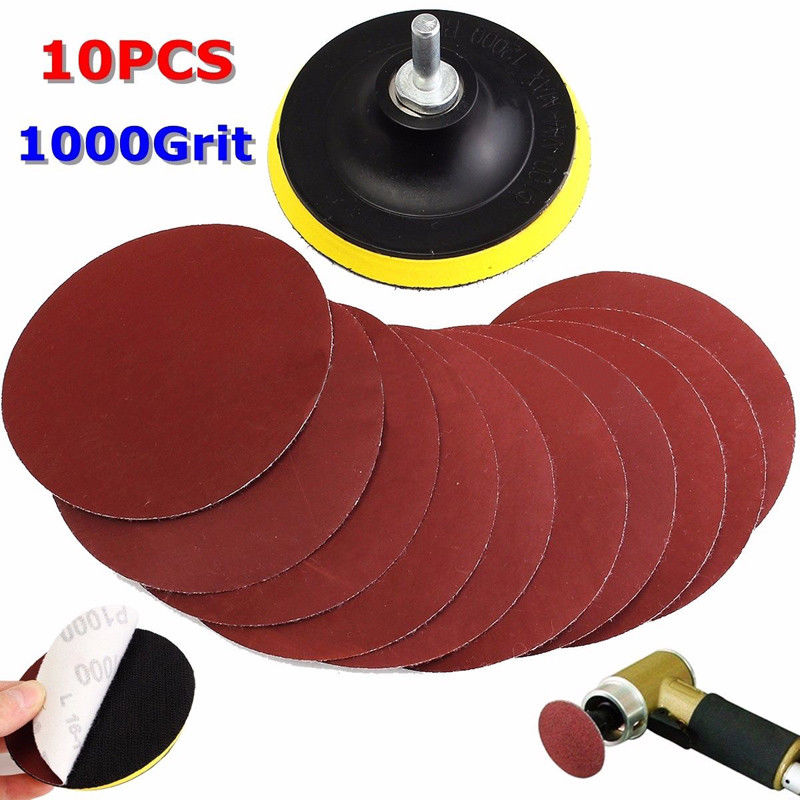 Power Tools 11 In1 4 1000 Grit Sanding Disc Paper Loop Sander Pad With Shank For Polishing Ebay Home Garden Sandpaper Drill 80 Grit Sandpaper