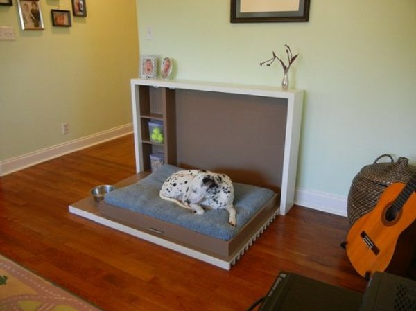 hundebett selber bauen f r dalmatiner dog beds pinterest hunde bett hunde und haustiere. Black Bedroom Furniture Sets. Home Design Ideas