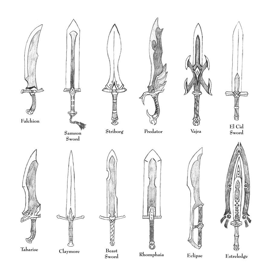 Anime weapons swords google search