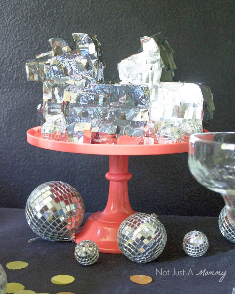 Who says pinatas have to be multicolored for Cinco De Mayo! Disco them up!