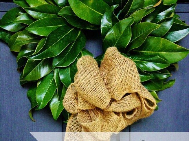 Magnolia Leaf Wreath12 Days Of Christmas Day 3 Leaves