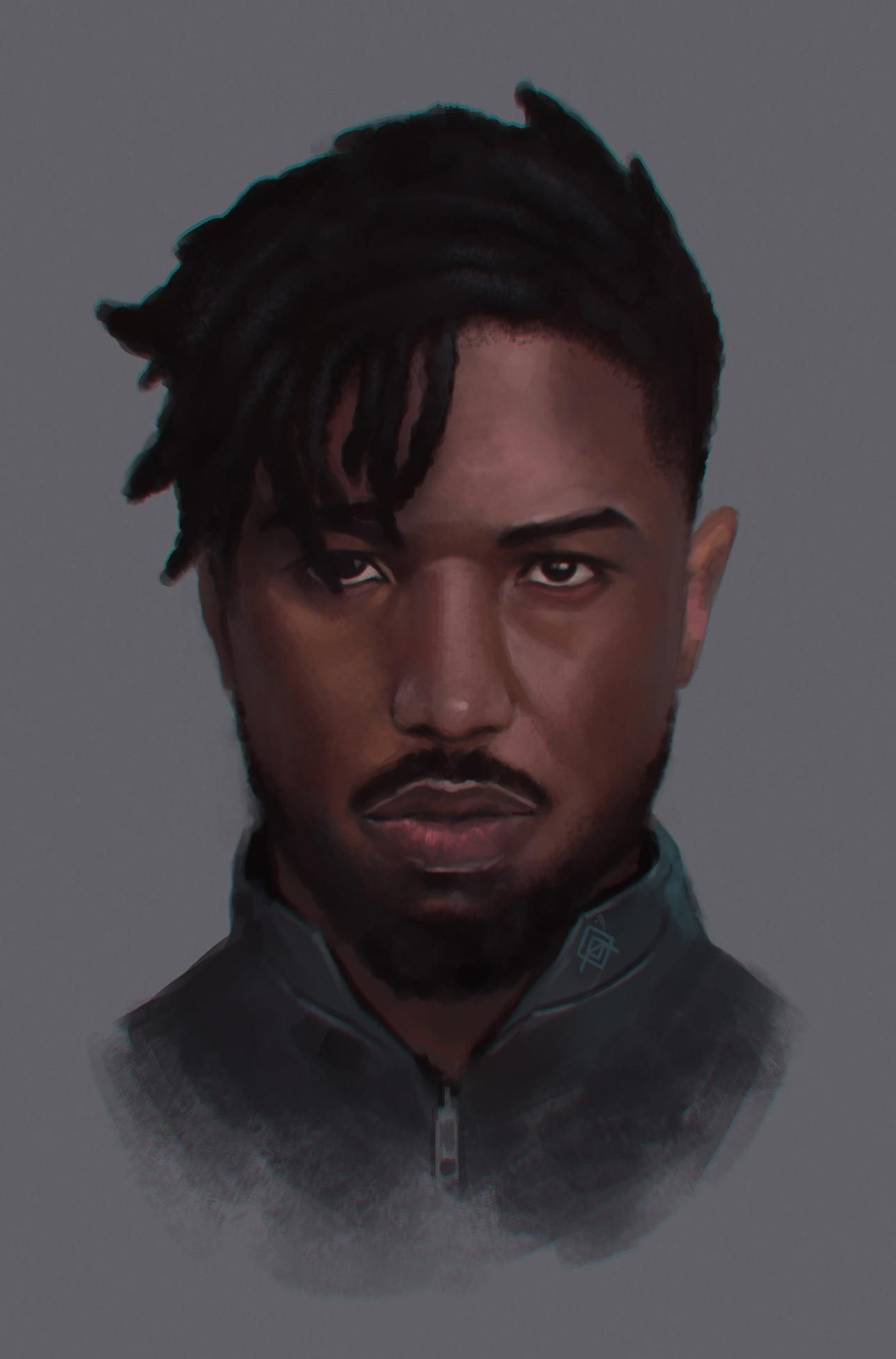 erik killmonger portrait by alfonso marvel and dc pinterest portraits black panther and. Black Bedroom Furniture Sets. Home Design Ideas