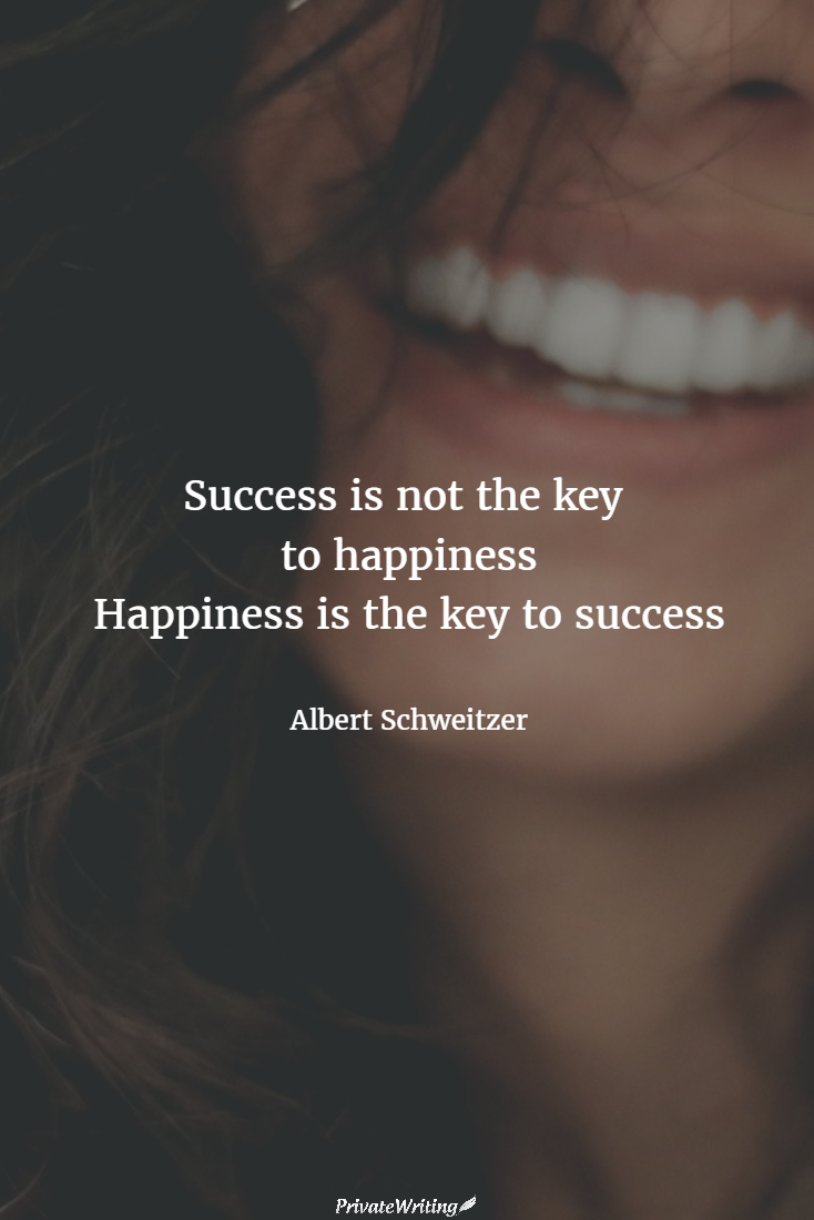 essay on success is important than happiness