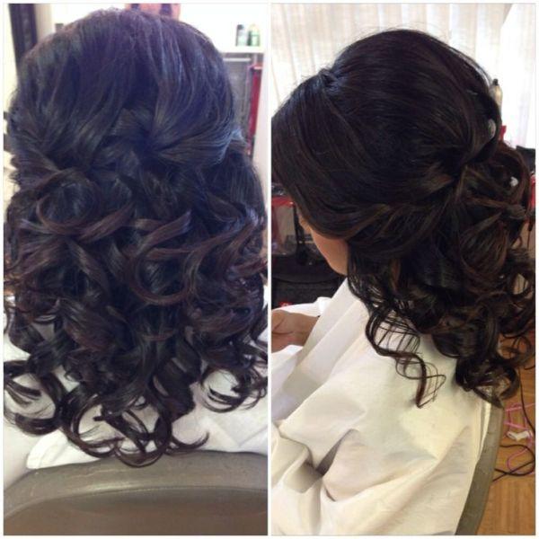 Half Up Updo Curls Short Hairstyles Wedding Hair Bridal Hair Half Down Prom Hair Homecoming Hair K Short Hair Styles Homecoming Hairstyles Hair Styles